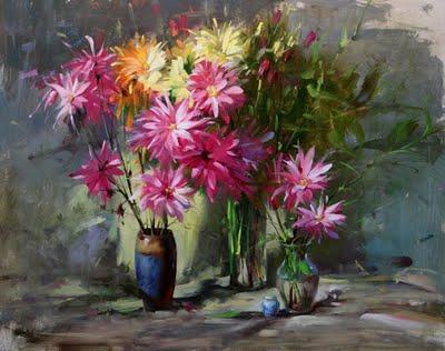 """""""flower series"""" original fine art by Fongwei Liu"""