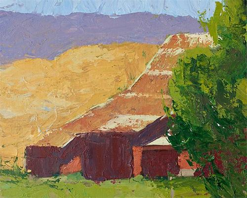 """Barn Back Knife"" original fine art by J. Farnsworth"