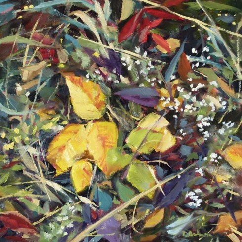 """""""Oil painting of Autumn Markweed"""" original fine art by Deb Anderson"""