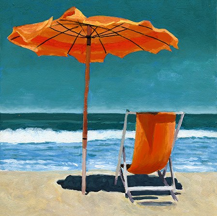 """Ready for Summer beach painting"" original fine art by Ria Hills"