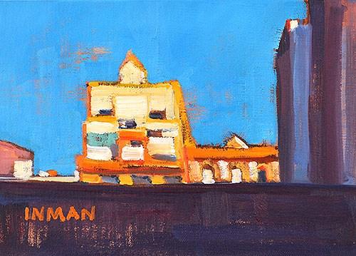"""Construction Site, Barcelona"" original fine art by Kevin Inman"