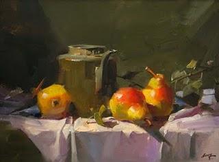 """Old Tea Kettle"" original fine art by Qiang Huang"