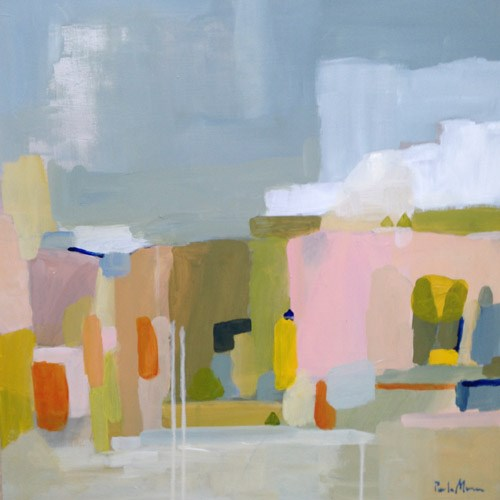 """spring abstract"" original fine art by Pamela Munger"
