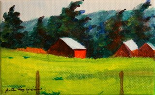 """Old, Orange and Weathered"" original fine art by JoAnne Perez Robinson"