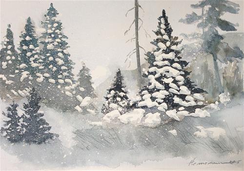"""""""Gust of Wind"""" original fine art by Eileen Hennemann"""