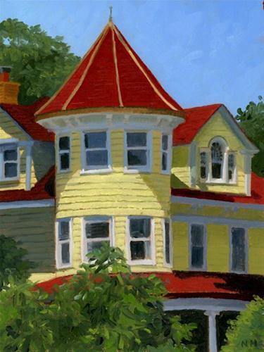 """Brooklyn Victorian"" original fine art by Nancy Herman"