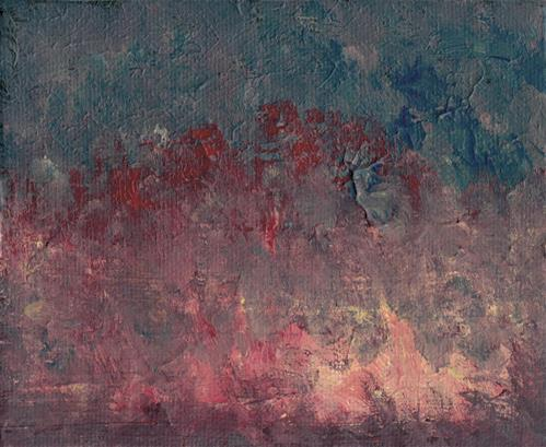 """Fire Abstract"" original fine art by Donna Vieth"
