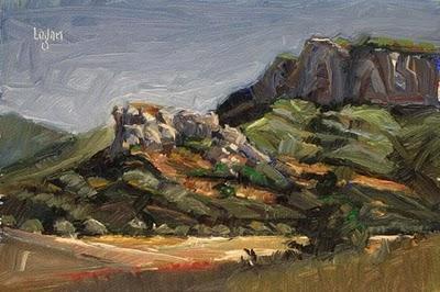 """Carpenter Canyon Rocks"" original fine art by Raymond Logan"