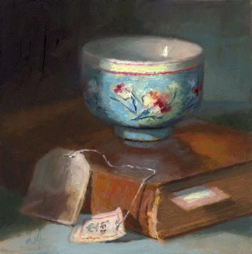 """The Blue Cup"" original fine art by Linda Jacobus"