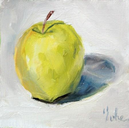 """Petite peinture du week-end"" original fine art by Evelyne Heimburger Evhe"