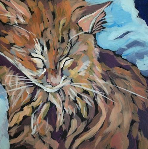 """March 28, Raskal"" original fine art by Kat Corrigan"