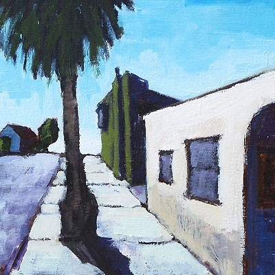 """""""Outside the Laundromat, San Diego"""" original fine art by Kevin Inman"""