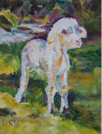 """Baah"" original fine art by Carol DeMumbrum"