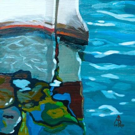 """Maltese reflections"" original fine art by Alix Baker PCAFAS AUA"