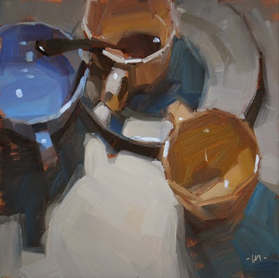 """Connected Cups"" original fine art by Carol Marine"