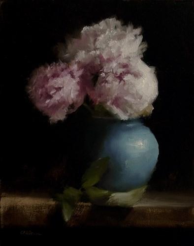 """Peonies"" original fine art by Neil Carroll"