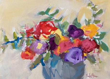"""wild roses"" original fine art by Pamela Munger"
