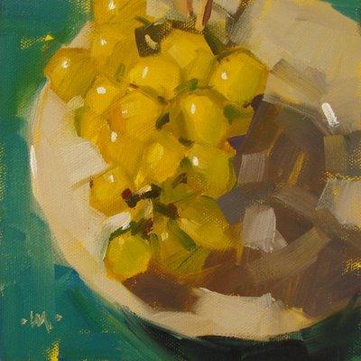 """Grape-Plated"" original fine art by Carol Marine"