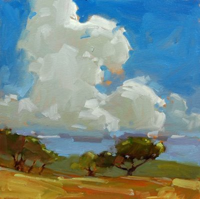 """91 Degrees and Some Clouds"" original fine art by Laurel Daniel"