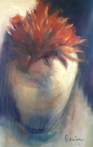 """Vase on fire"" original fine art by Rentia Coetzee"