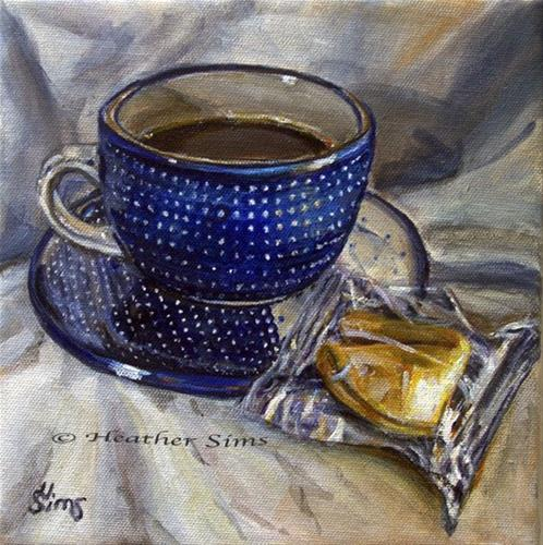 """""""Fortune Cookie: Polish Pottery LIII"""" original fine art by Heather Sims"""