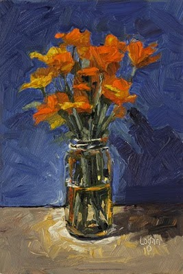 """California Poppies"" original fine art by Raymond Logan"