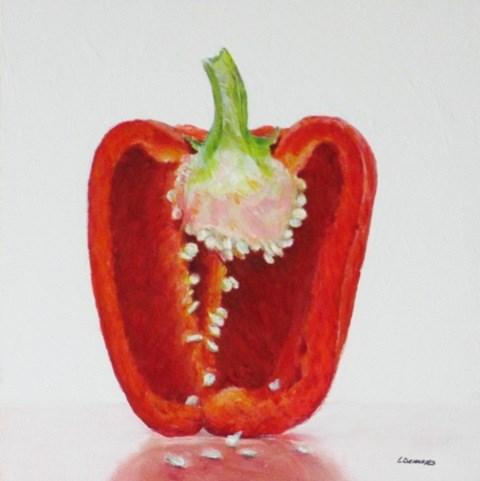 """""""Red Pepper"""" original fine art by Linda Demers"""