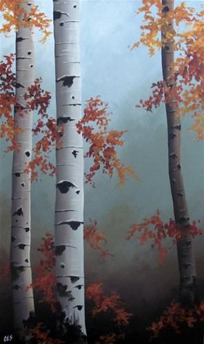 """Autumn is Here"" original fine art by ~ces~ Christine E. S. Code"