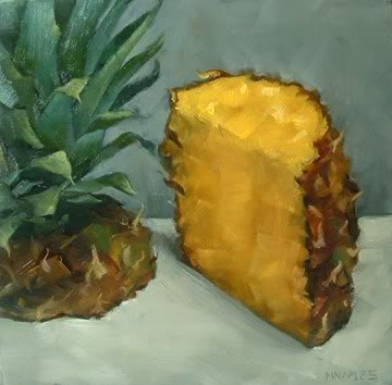 """Cut Pineapple"" original fine art by Michael Naples"