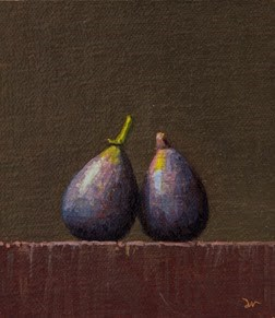 """""""Two Figs    (24-hour Auction)"""" original fine art by Abbey Ryan"""