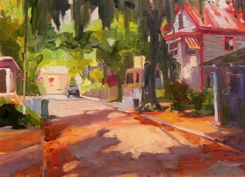 """""""Debbie Moore's House St Augustine, plein air, oil painting by Robin Weiss"""" original fine art by Robin Weiss"""