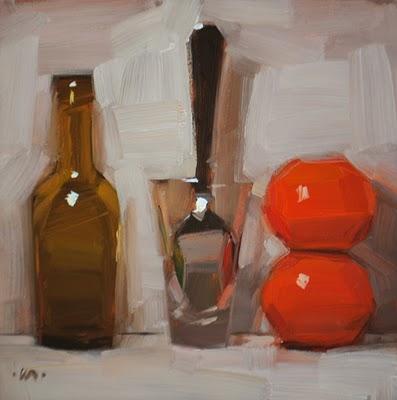 """Orange Extract"" original fine art by Carol Marine"