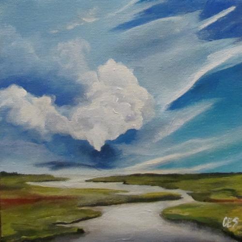 """""""Estuary"""" original fine art by ~ces~ Christine E. S. Code"""