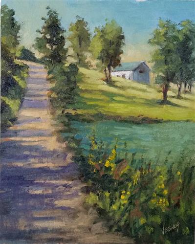 """Takin a Backroad 2-en plein air"" original fine art by Veronica Brown"