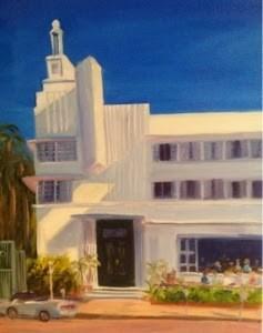 """South Beach Beauty"" original fine art by Debra Kennedy"