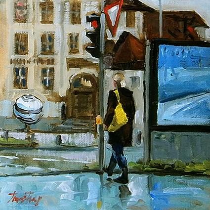 """Linden Museum, Stuttgart"" original fine art by Jurij Frey"