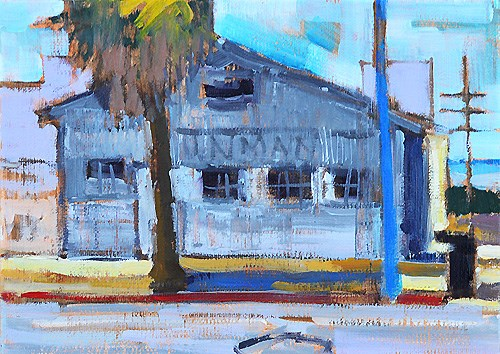 """""""Little Italy Warehouse San Diego"""" original fine art by Kevin Inman"""