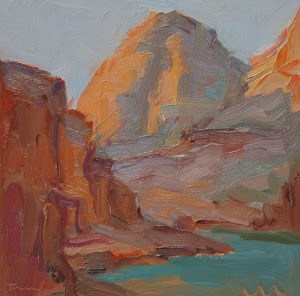"""Grand Canyon Sketch 6"" original fine art by Kathryn Townsend"