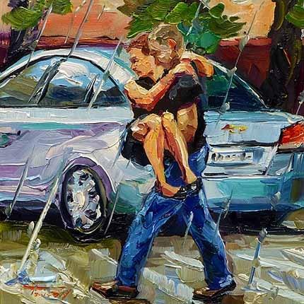 """""""Im Regen"""" original fine art by Jurij Frey"""