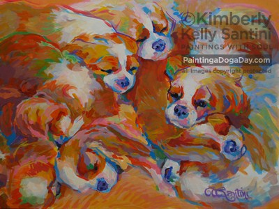 """Pile"" original fine art by Kimberly Santini"