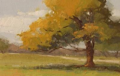 """""""Leaning Oak (Demo)"""" original fine art by Laurel Daniel"""