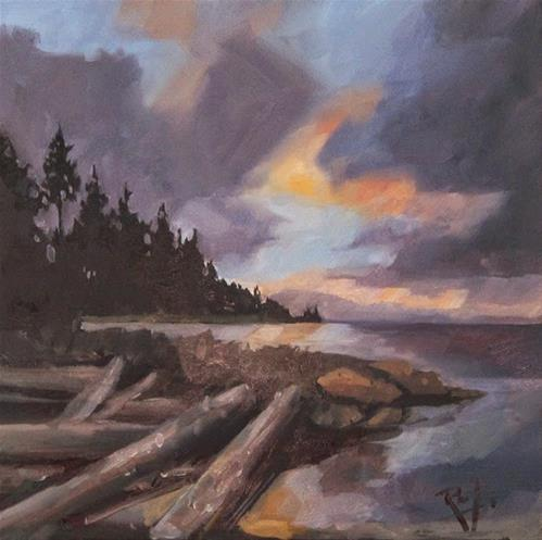 """""""No 757 End of the day"""" original fine art by Robin J Mitchell"""