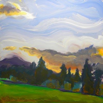 """""""Valley Storm 5"""" original fine art by Pam Van Londen"""