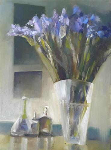 """A Lady's room"" original fine art by Rentia Coetzee"