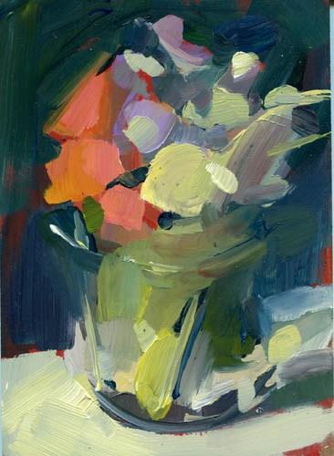 """1128 Yard Flowers"" original fine art by Lisa Daria"