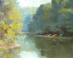 """""""Scott's Cove in Late Afternoon"""" original fine art by Rita Curtis"""