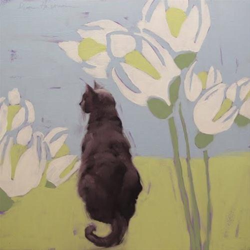 """Ways of Cat 4 painting"" original fine art by Diane Hoeptner"