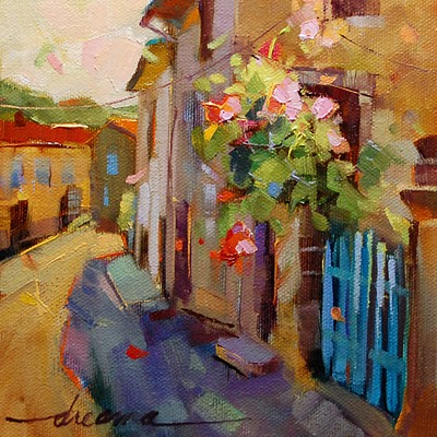 """""""A French Moment SOLD"""" original fine art by Dreama Tolle Perry"""
