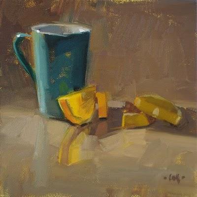 """Lazing Lemon"" original fine art by Carol Marine"