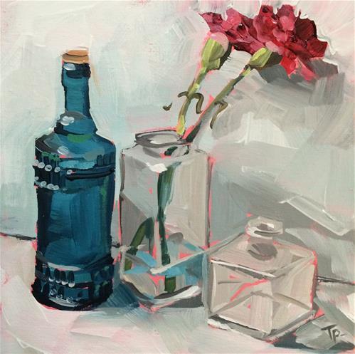 """New Blue"" original fine art by Teddi Parker"